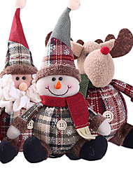 cheap -Cute Christmas Doll Toys Santa Claus Snowman Elk Christmas Tree Hanging Ornament Decoration for Home Xmas Party New Year Gifts