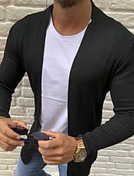 cheap -Men's Solid Colored Long Sleeve EU / US Size Shrug Sweater Jumper, Collarless Black / White / Gray US32 / UK32 / EU40 / US36 / UK36 / EU44 / US38 / UK38 / EU46