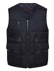 cheap -Men's Solid Colored Vest, Polyester Green / Navy Blue US32 / UK32 / EU40 / US34 / UK34 / EU42 / US36 / UK36 / EU44