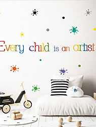 cheap -Decorative Wall Stickers - Words & Quotes Wall Stickers Landscape / Characters Living Room / Bedroom / Kitchen 44*69.5cm