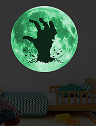 cheap -Luminous Halloween Horrible Hand PVC Wall Stickers - Plane Wall Stickers Transportation / Landscape Study Room / Office / Dining Room / Kitchen