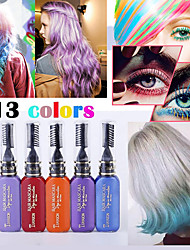 cheap -One-time hair cream gradient color hair products eye makeup makeup mascara dual-use (13 colors optional)
