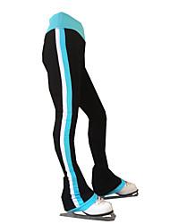 cheap -21Grams Figure Skating Pants Women's Girls' Ice Skating Tights Bottoms Black Spandex Stretch Yarn High Elasticity Training Skating Wear Solid Colored Classic Long Pant Ice Skating Figure Skating