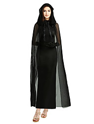 cheap -Ghost Cosplay Costume Outfits Masquerade Adults' Women's Cosplay Halloween Halloween Festival / Holiday Polyster Black Women's Carnival Costumes / Dress / Gloves / Cloak