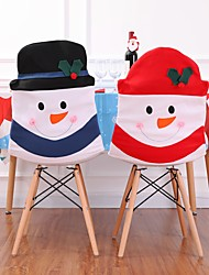 cheap -Christmas Snowman Chair Slipcover Chair Back Cover X'mas Decoration/ 1pcs/ Dining Kitchen Decor