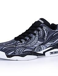 cheap -Men's Running Shoes Sneakers Breathable Anti-Slip Comfortable Running Basketball Autumn / Fall Winter Rainbow Black