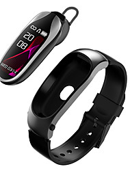 cheap -DMDG Smart Wristband Bluetooth Fitness Tracker & Wireless Headphone Support Notify/ Heart Rate Monitor Compatible Samsung/ Iphone/ Android Phones