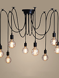 cheap -8-Light 120CM Candle Style Chandelier Metal Painted Finishes Modern Contemporary 110-120V / 220-240V