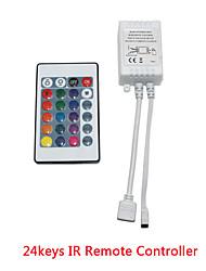 Недорогие -KWB 1шт 12 V Газонокосилка / 24keys ABS + PC ИК-пульт дистанционного управления для RGB LED Strip Light / для светодиодной полосы света