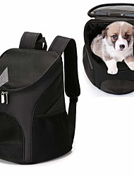 cheap -Cat Dog Carrier & Travel Backpack Pet Carrier Portable Breathable Solid Colored Red Blue Black