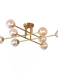 cheap -QIHengZhaoMing 8-Light 103 cm Flush Mount Lights Metal Glass Sputnik Brass Nordic Style 110-120V / 220-240V / G9