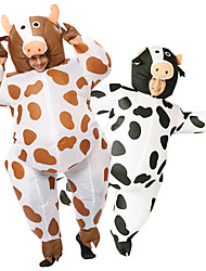 cheap -Animal Cosplay Costume Inflatable Costume Adults' Men's Halloween Birthday Halloween New Year Festival / Holiday Brown / White Men's Women's Carnival Costumes Floral / Air Blower / Leotard / Onesie