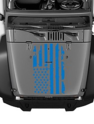 abordables -Autocollants de capot extérieur de voiture usa drapeau autocollant vinyle auto décoration autocollant modèles 51 * 90 cm