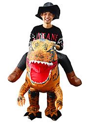 abordables -Dinosaure Costume Gonflable Adultes Adulte Homme Halloween Halloween Fête / Célébration Rayon / polyester Marron Homme Femme Déguisement Carnaval / Collant / Combinaison / Manuel D'Utilisation