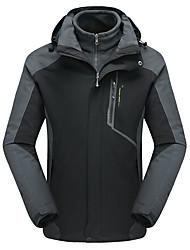 cheap -Men's Hiking 3-in-1 Jackets Winter Outdoor Waterproof Windproof Breathable Rain Waterproof Jacket 3-in-1 Jacket Waterproof Camping / Hiking Hunting Ski / Snowboard Black / Royal Blue / Red / Dark Navy