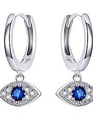 cheap -Women's Red AAA Cubic Zirconia Drop Earrings Classic Star Pointer Stylish Artistic Luxury Trendy Romantic S925 Sterling Silver Earrings Jewelry Silver For Christmas 1 Pair