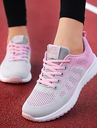 cheap -Women's Athletic Shoes Flat Heel Round Toe Mesh Running Shoes Spring & Summer Black / Dusty Rose / Fuchsia