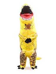 abordables -Dinosaure Costume Gonflable Adultes Adulte Homme Halloween Halloween Fête / Célébration Rayon / polyester Jaune Homme Femme Déguisement Carnaval / Collant / Combinaison / Manuel D'Utilisation
