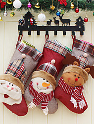 cheap -Christmas Socks Gift Bag Christmas Tree Decoration Socks Decoration Child Candy Bag Gift Christmas Decoration Home