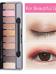 cheap -Fashion Eyeshadow Palette 10 Colors Matte Eyeshadow Palette Glitter Eye Shadow Makeup Nude Beauty Makeup set Cosmetics Tools Hot