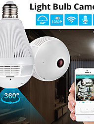 cheap -360 Degree LED Light 1080P Wireless Panoramic Home Security WiFi CCTV Fisheye Bulb Lamp 2MP IP Camera with Microphone
