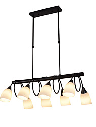cheap -8-Light 8-head Vintage Modern Chandelier Glass Island Pendant Living Room Bedroom Dining Room Lights