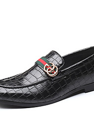 cheap -Men's Moccasin Synthetics Spring / Fall Casual / British Loafers & Slip-Ons Non-slipping Black / Wine / Party & Evening / Party & Evening / Driving Shoes