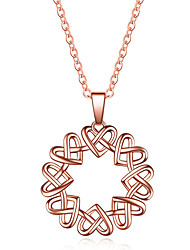 cheap -Women's Pendant Necklace Two tone Heart Trendy Sweet Chrome Rose Gold Silver 45 cm Necklace Jewelry 1pc For Daily