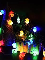 cheap -Halloween skull bone light string Light Decoration 10 LED 1.2M pendant lights