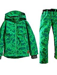 cheap -Boys' Girls' Ski Jacket with Pants Skiing Snowboarding Winter Sports Rain Waterproof Warm Skiing POLY Clothing Suit Ski Wear / Animal