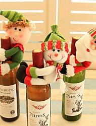 cheap -3Pcs Santa Claus Red Wine Bottle Cover Snowman Home Christmas Decoration Lovely Navidad Christmas Ornaments Wine Bottles Hold Covers