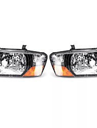 cheap -Pair Car Front Headlight Head Lamp Assembly Glass Lens Cover for Mitsubishi Pajero Montero 2000-2006
