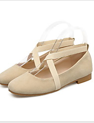 cheap -Women's Ballet Shoes Canvas Flat Flat Heel Dance Shoes Almond / Pink / Practice
