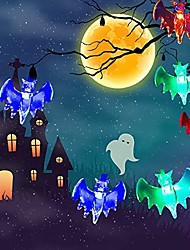 cheap -Halloween String 3D Bat Lights 3m 9.8ft 20 LED Multi Color Halloween Decoration String Light for Indoor Outdoor Party Christmas Holiday Decoration