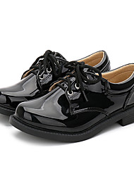 cheap -Boys' Novelty Patent Leather Flats Little Kids(4-7ys) / Big Kids(7years +) White / Black Spring / Fall / Party & Evening / Rubber