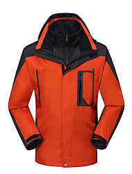 cheap -Men's Hiking Jacket Winter Outdoor Patchwork Waterproof Windproof Warm Comfortable Jacket Top Camping / Hiking / Caving Traveling Black / Orange / Green / Red / Blue