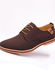 cheap -Men's Suede Shoes Suede Fall Casual Oxfords Wear Proof Color Block Black / Brown / Camel / Party & Evening / Party & Evening / Comfort Shoes
