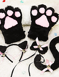 cheap -Inspired by Cosplay Cat Anime Cosplay Costumes Japanese Cosplay Accessories Cravat Gloves Tail For Women's Girls' / Hair Band / Hair Band
