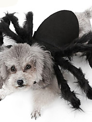 cheap -Dogs Cats Costume Fleece Coat Spider Winter Dog Clothes Black Halloween Costume Baby Small Dog Polyster Animal S