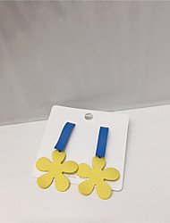 cheap -Women's Earrings Long Flower Earrings Jewelry Blue For Gift Daily Festival 1 Pair