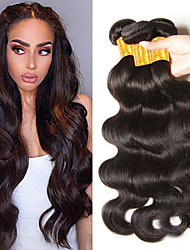 cheap -3 Bundles Hair Weaves Indian Hair Wavy Human Hair Extensions Remy Human Hair 100% Remy Hair Weave Bundles Natural Color Hair Weaves / Hair Bulk Human Hair Extensions 8-28 inch Natural Color Natural