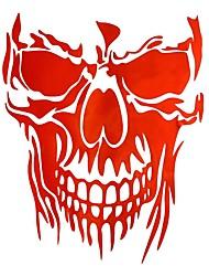 cheap -23 x 29.5cm Skull Hood Car Stickers Vinyl Decals Auto Body Truck Tailgate Window Door Universal
