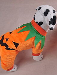 cheap -Dogs Outfits Winter Dog Clothes Orange Halloween Costume Polyster Pumpkin Holiday Funny S M L XL
