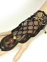 cheap -Women's Black Vintage Bracelet Ring Bracelet / Slave bracelet Earrings / Bracelet Vintage Style Skull Angel Wings Statement Vintage Trendy Gothic Fashion Alloy Bracelet Jewelry Black For Halloween
