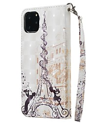 cheap -Case For Apple iPhone 11 / iPhone 11 Pro / iPhone 11 Pro Max Wallet / Card Holder / with Stand Full Body Cases Eiffel Tower PU Leather