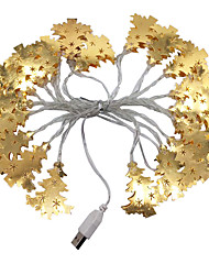 cheap -3m Golden Wrought Iron Christmas Tree String Lights 20 LEDs Warm White RGB White Creative Party LED Christmas Lantern Decorative 5 V USB 1 set
