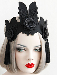 cheap -Women's Headbands For Halloween Theme Party Animal Series Flower Series Classic Resin Fabric Alloy Black 1