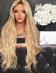 cheap -Synthetic Wig kinky Straight Middle Part Wig Long Light Blonde Synthetic Hair 26 inch Women's Women Dark Brown