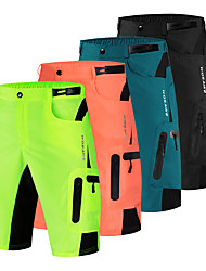 cheap -WOSAWE Men's Cycling Shorts Cycling MTB Shorts Spandex Bike Pants / Trousers MTB Shorts Bottoms Breathable Quick Dry Anatomic Design Sports Solid Color Black / Dark Green / Orange Mountain Bike MTB