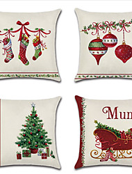 cheap -Christmas pillow cover cushion cover Christmas stocking bell Christmas tree household